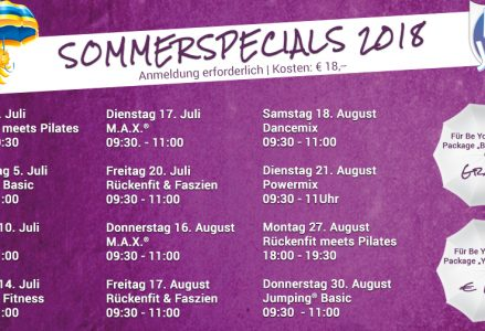 Sommerspecials 2018