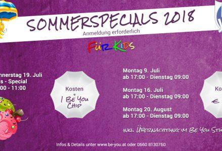 Sommerspecials Kids 2018