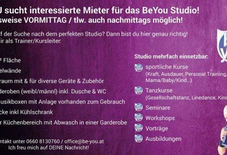 Studiovermietung Werbung